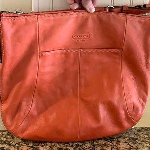 COACH Madison Orange 12684 Leather Shoulder Bag